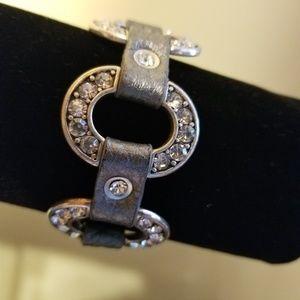 Premier Designs Starlet Crystal Leather Bracelet